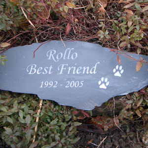 Cat Memorial on a Slate Plaque