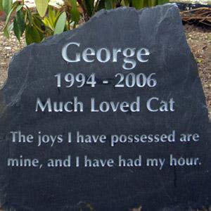 Cat Memorial Headstone
